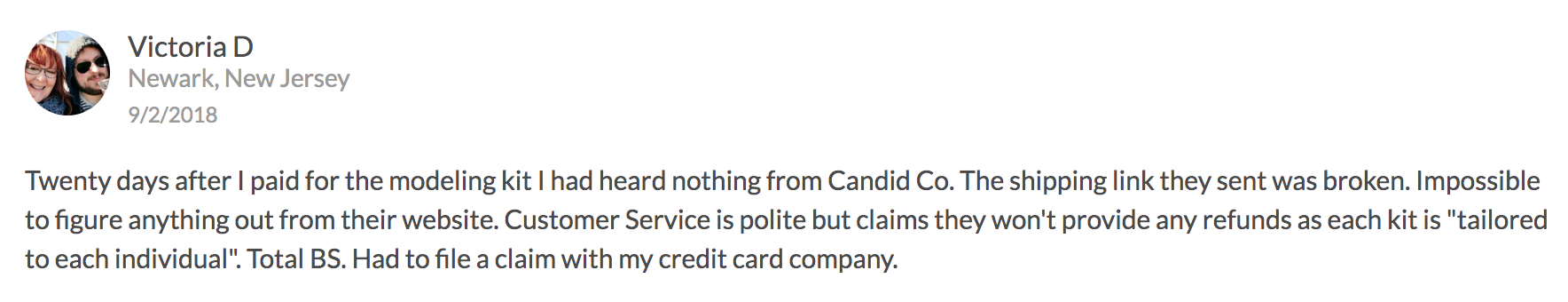 bad review #3candid co